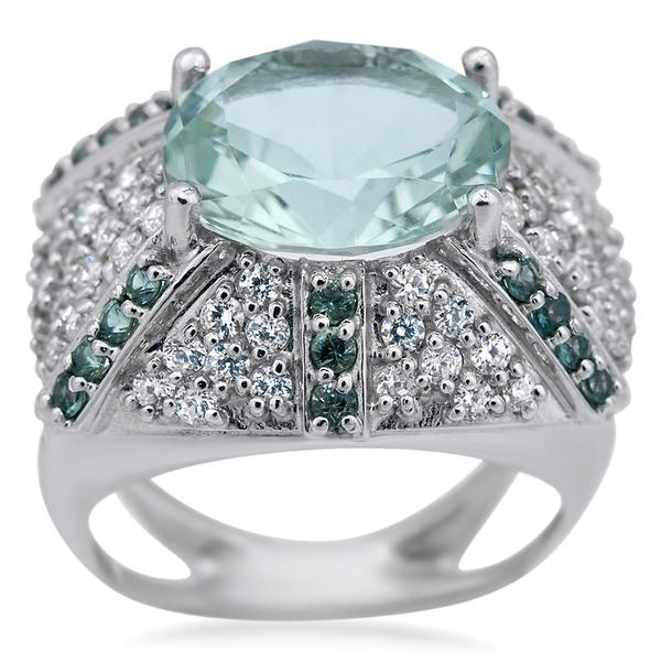 875 Silver Ring With Prasiolite - My Super Hot Deals