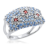 875 Silver Ring With Garnet - My Super Hot Deals