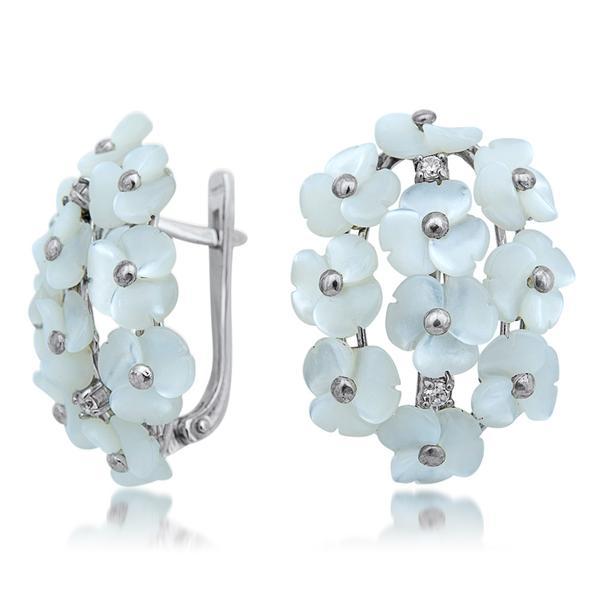 875 Silver Earrings With White Mother of Pearl - My Super Hot Deals
