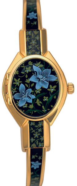 ANDRE MOUCHE - Florali - Gold Handmade Women Swiss Watch in Black/Blue - My Super Hot Deals