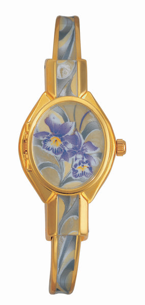 ANDRE MOUCHE - Orchidee Gold Handmade Women Swiss Watch in White/Purple - My Super Hot Deals