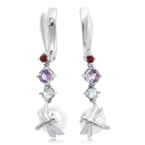 875 Silver Earrings With White Shell Pearl - My Super Hot Deals