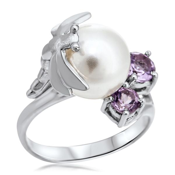 875 Silver Ring With White Shell Pearl - My Super Hot Deals