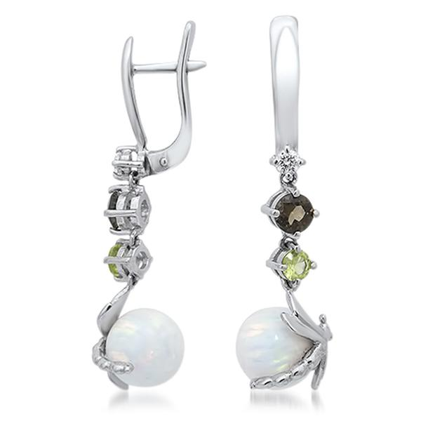 875 Silver Earrings With White Opal - My Super Hot Deals