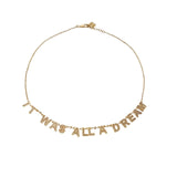 "The ""IT WAS ALL A DREAM"" Pave Gold Necklace - My Super Hot Deals"