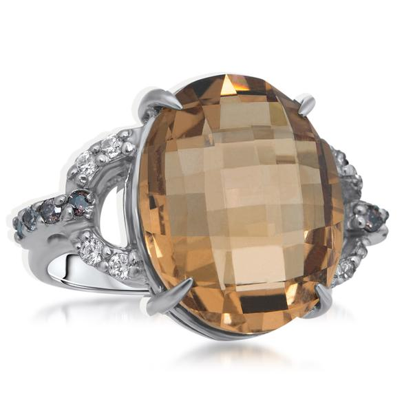 875 Silver Ring With Cognac Citrine - My Super Hot Deals
