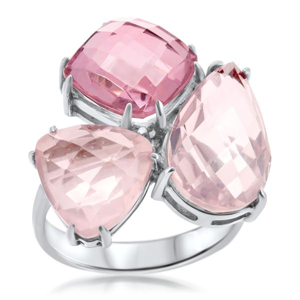 875 Silver Ring With Pink Quartz - My Super Hot Deals