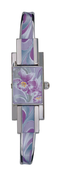 ANDRE MOUCHE - Alizee Orchidee 18cts Palladium Plated Handmade Women Swiss Watch in Purple - My Super Hot Deals