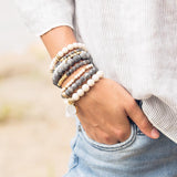 Fossil Jasper Stretch Bracelets - My Super Hot Deals