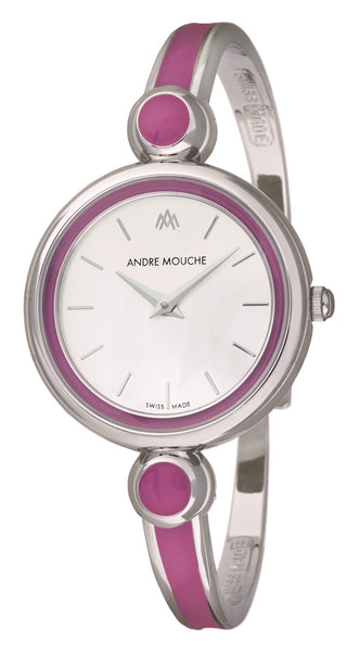 ANDRE MOUCHE - Aria 18cts Palladium Plated Handmade Women Swiss Watch in Purple - My Super Hot Deals