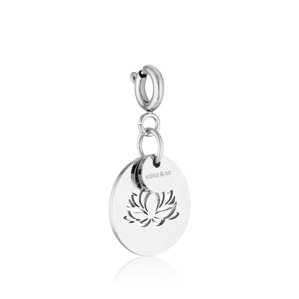 Lotus On Disc Charm - My Super Hot Deals