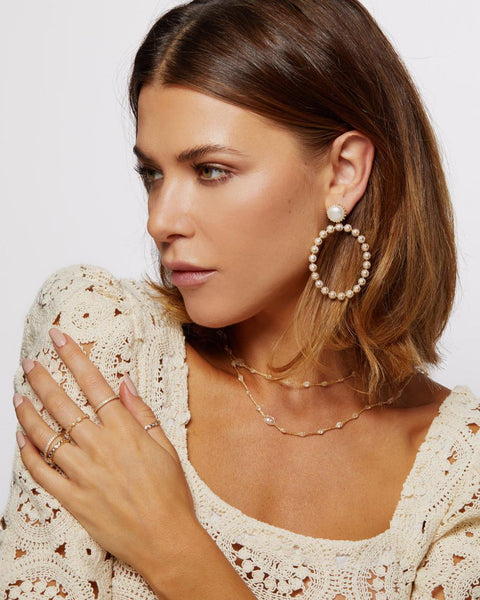 DOTTIE PEARL GARDEN EARRINGS - My Super Hot Deals
