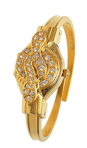 ANDRE MOUCHE - Snake Crystal, 18cts Gold Plated Handmade Women Swiss Watch - My Super Hot Deals