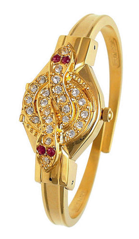 ANDRE MOUCHE - Snake Crystal, Amethyst, 18cts Gold Plated Handmade Women Swiss Watch - My Super Hot Deals