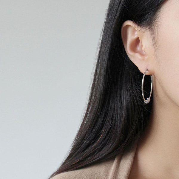 STERLING SILVER CLASSIC ROUND HOOP EARRINGS - My Super Hot Deals
