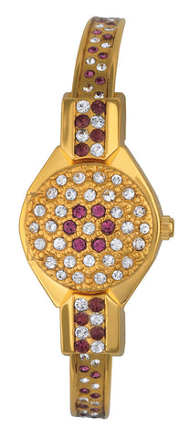 ANDRE MOUCHE - Round Crystal, Amethyst, 18cts Gold Plated Handmade Women Swiss Watch - My Super Hot Deals