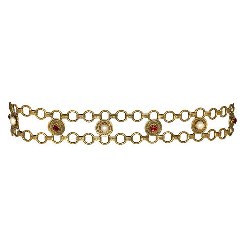 Pearl And Ruby Rhinestone Belt - Kenneth Jay Lane - My Super Hot Deals
