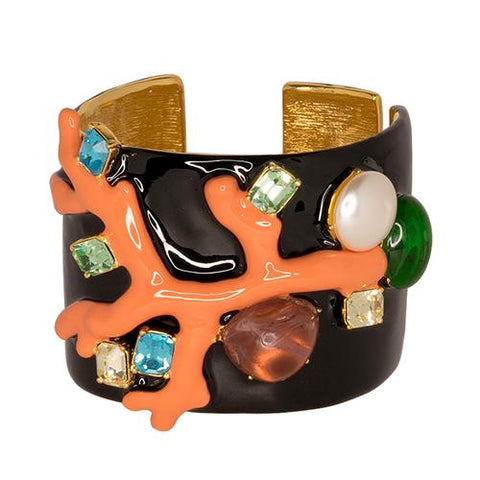 KENNETH JAY LANE Black & Coral Cuff - My Super Hot Deals