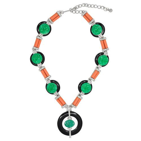 KENNETH JAY LANE Button Deco Necklace - My Super Hot Deals