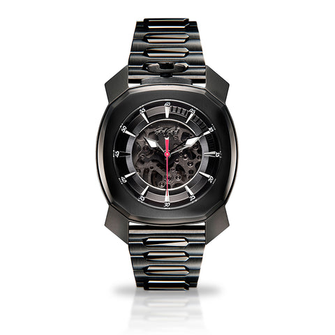 GAGA MILANO Frame_One - Black PVD - Skeleton automatic - My Super Hot Deals