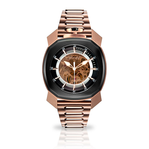 GAGA MILANO Frame_One - Rose gold plated - Skeleton automatic - My Super Hot Deals