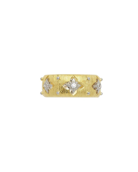 BELLE ANTIQUE BRUSHED GOLD CUT OUT BAND RING - My Super Hot Deals
