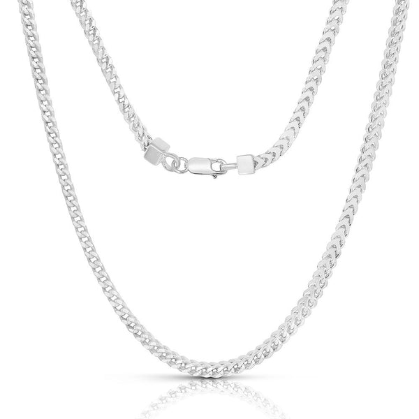 STERLING SILVER MADE IN ITALY 14K 2 MM FRANCO CHAIN NECKLACE - My Super Hot Deals