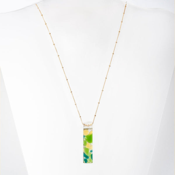 MOSAIC STILETTO GOLD FILL SATELLITE NECKLACE - My Super Hot Deals