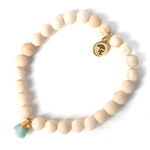 HAVE COURAGE & BE KIND-Bella Bracelet, Aqua Chalcedony Nugget - My Super Hot Deals