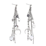 Antler | Silver Chain Pendants Earrings - My Super Hot Deals