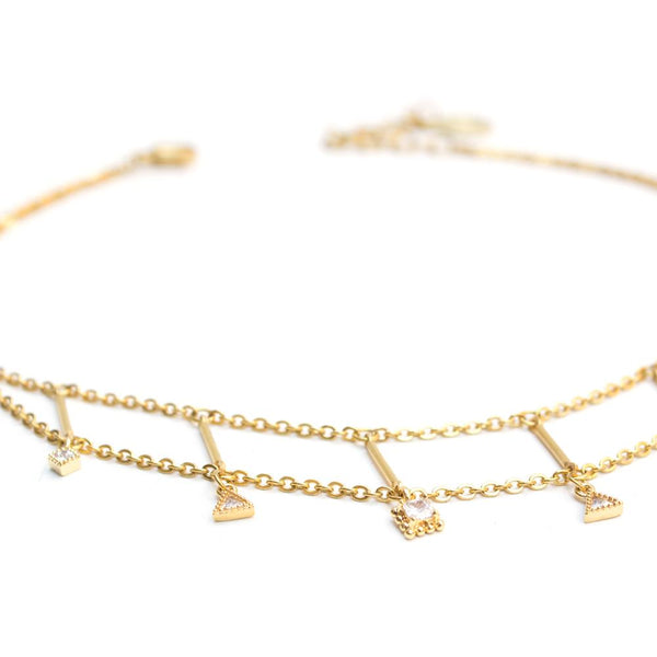 Astral | Gold Crystal Choker Necklace - My Super Hot Deals