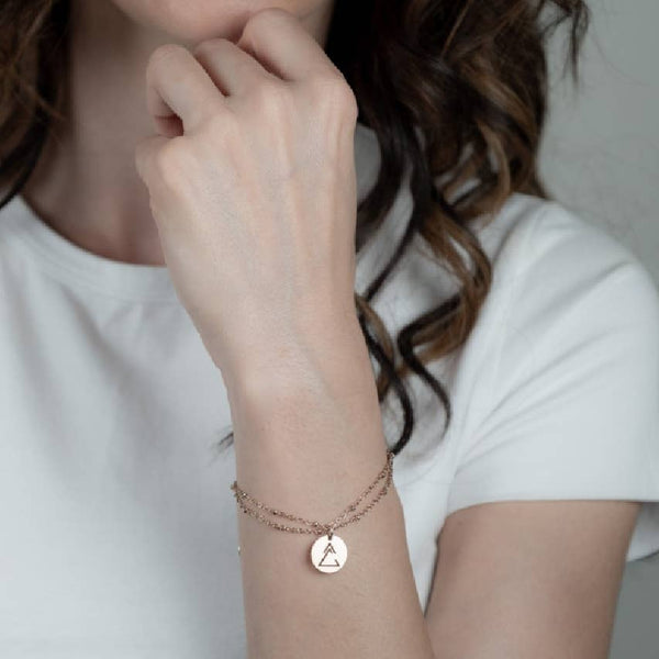 Unclosed Delta Bracelet with Ball Chain - My Super Hot Deals