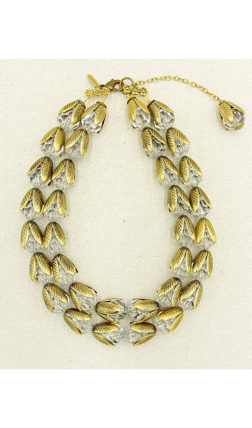 The Classic Lucite Bead-Cap Multi-Strand Necklace - Crystal - My Super Hot Deals