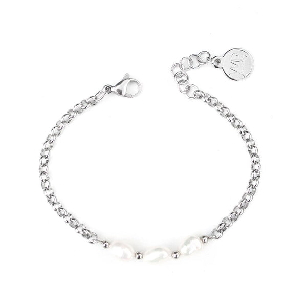 Ivory | Silver Pearl Bracelet - My Super Hot Deals