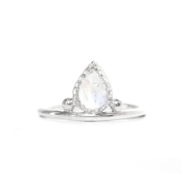 Pera | Sterling Silver Moonstone Ring - My Super Hot Deals