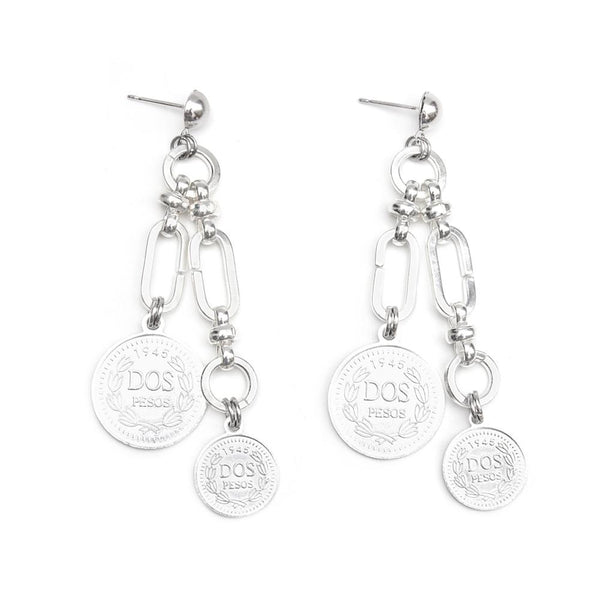 Sarco | Silver Coins & Links Earrings - My Super Hot Deals