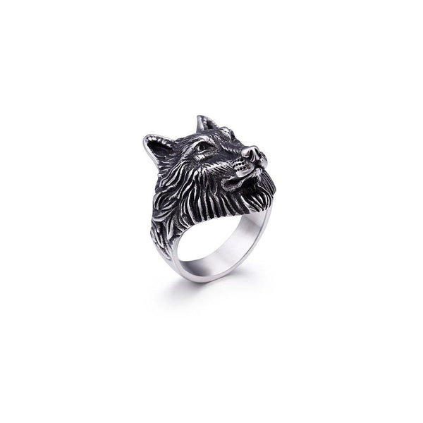 WOLF HEAD RING IN STAINLESS STEEL - My Super Hot Deals