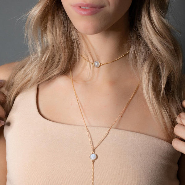 "The ""Bohemian"" Gemstone Lariat/Wrap Choker Body Chain - My Super Hot Deals"