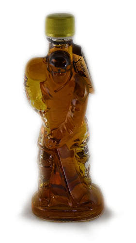 200ml Glass Hockey Player- Canada Grade A - Amber