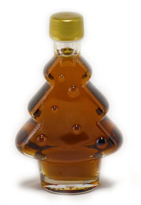 200ml Glass Christmas Tree Decorated - Canada Grade A - Amber
