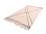 "Beni Ourain Rug - SIZE: 8'5"" x 5'2"" ( 257cm x 158cm) - Free Shipping"