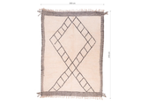 "Moroccan Rug Beni Ourain - SIZE: 10'4"" x 7'3"" ( 315cm x 222cm) - Free Shipping"