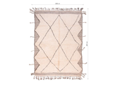 "Beni Ourain Rug - SIZE: 10'1"" x 6'10"" ( 307cm x 208cm) - Free Shipping"
