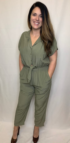 Collared Pant Jumpsuit