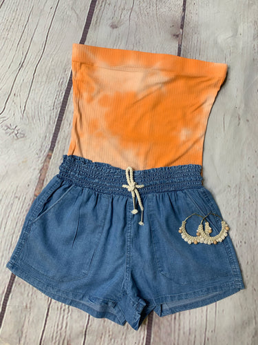 Drawstring Tencel Summer Short
