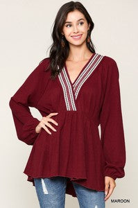 Tribal Puff Sleeve Tunic