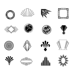 Art Deco Inspired Glyphs