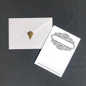 Art Deco Inspired Note Cards