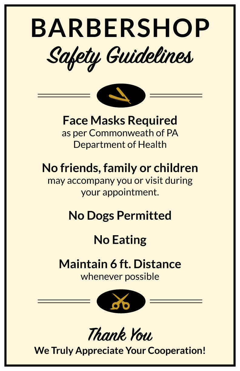 Barbershop Safety Guidelines - Poster