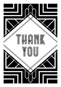 Art Deco Inspired Thank You Cards